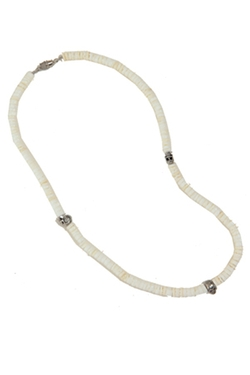 Duchess of Malfi - Clam Shells Skull Necklace