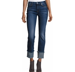 7 For All Mankind - Fashion Cuffed Boyfriend Jeans