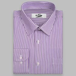 GSSIR 2014 - Purple & White Stripe Men Dress Shirt