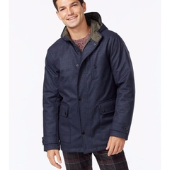 Kenneth Cole - Hooded Jacket with Quilted Lining