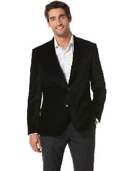 Perry Ellis - SLIM FIT VELVET JACKET
