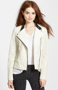 Guess - Perforated Faux Leather Moto Jacket