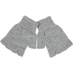 River Island - Light Grey Knitted Fingerless Gloves