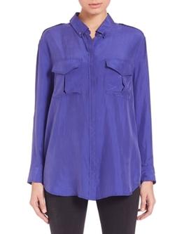 Equipment  - Button-Down Silk Shirt