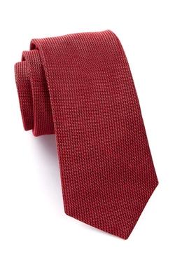 WRK  - Gregor Solid Print Silk Tie