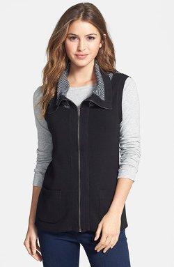 Foxcroft  - Herringbone Block Vest
