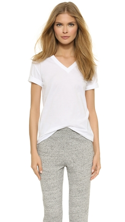 T by Alexander Wang  - Superfine V Neck T-Shirt