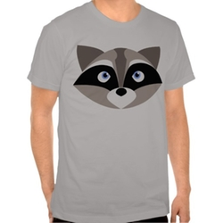 Zazzle Apparel - Cute Raccoon Face Tshirt