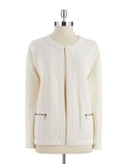 Nipon Boutique - Textured Open Front Blazer