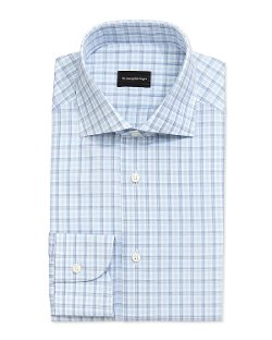 Ermenegildo Zegna	  - Box Plaid Dress Shirt