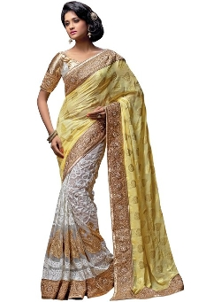 Indus Diva - Viscose Half and Half Saree