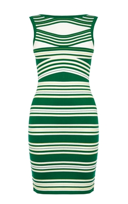 Karen Millen - Sleeveless Striped Knit Dress