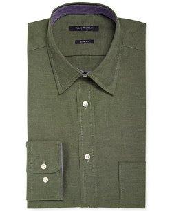 Isaac Mizrahi  - Slim-Fit Twill Solid Dress Shirt
