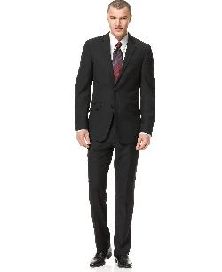 Kenneth Cole  - Reaction Suit Black Solid Slim Fit