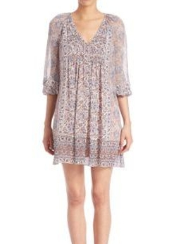 Joie - Foxley Printed Silk Shift Dress