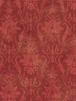 Interior Place - Red Damask Ironworks Wallpaper