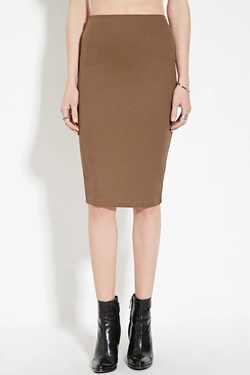 Forever 21 - Contemporary Ribbed Pencil Skirt
