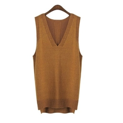 Nanxson - V-Neck Winter Sleeveless Sweater