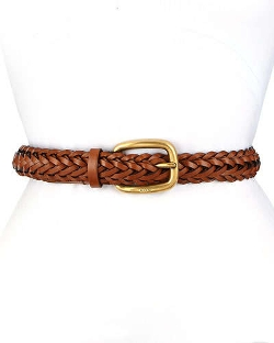 Gucci - Square Buckle Braided Belt