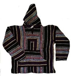 Sunspecs  - Mexican Blanket Woven Hooded Poncho Jacket