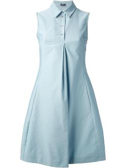 Jil Sander Navy - Pleated Shirt Dress