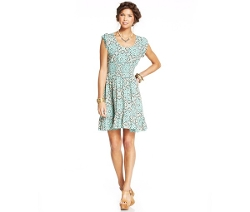 American Rag  - Printed Smocked Dress