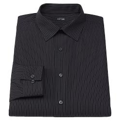 Apt. 9 - Slim-Fit Pinstripe Spread-Collar Dress Shirt