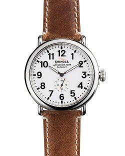 Shinola  - The Runwell Brown Strap Watch