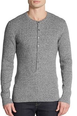 Dolce & Gabbana - Ribbed Henley Pullover Shirt