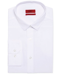 Alfani RED  - Fitted Solid Performance Dress Shirt