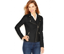 Guess - Dual-Zip Faux-Leather Moto Jacket