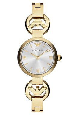 Emporio Armani  - Logo Half Bangle Watch