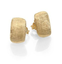 Marco Bicego  - Murano Yellow Gold Rectangle Stud Earrings