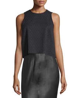 Rag & Bone - Evie Sleeveless Cotton Honeycomb Top