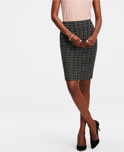 Ann Taylor - Petite Tweed Pencil Skirt