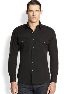 Ralph Lauren Black Label  - Twill Military Rover Sportshirt