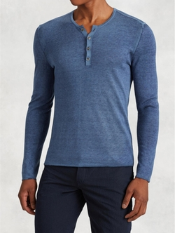 John Varvatos - Silk Cashmere Henley Sweater