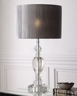 Neiman Marcus - Pleated Shade Crystal Lamp