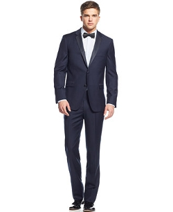 DKNY - Extra Slim-Fit Navy Blue Tuxedo Suit