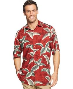 Campia Moda  - Short-Sleeve Palm Printed Shirt