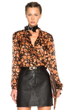 Lanvin - Devore Leopard Ruffle Blouse