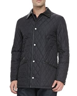 Salvatore Ferragamo - Diamond Quilt Barn Coat