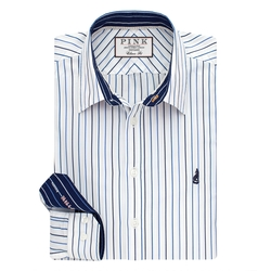 Thomas Pink - Melford Stripe Classic Fit Button Cuff Shirt