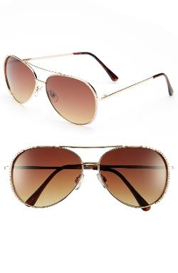 BP - Embellished Aviator Sunglasses