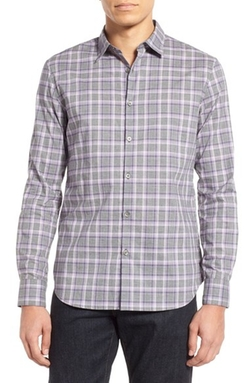 John Varvatos Star Usa - Trim Fit Plaid Sport Shirt