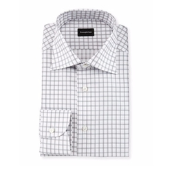 Ermenegildo Zegna - Large Box-Check Dress Shirt