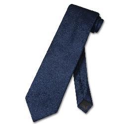 Vesuvio Napoli  - NeckTie Solid NAVY BLUE Color Paisley Men