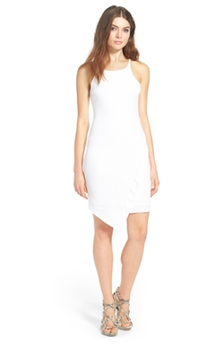 MISSGUIDED  - Crepe Asymmetrical Body Con Dress