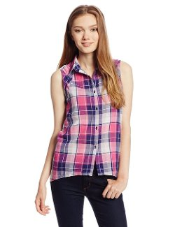 Unionbay  - Juniors Denver Plaid Sleeveless Woven Top