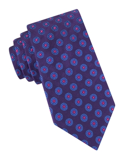 Ted Baker - Circle-Print Silk Tie